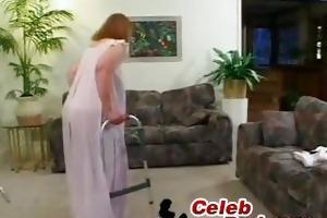 yo granny drilled in a living room granny
