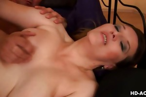 perverted older sweetheart drilled from behind