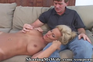 older cunt banged in front of hubby