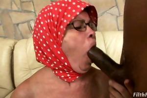 rod engulfing grandma receives fucked!