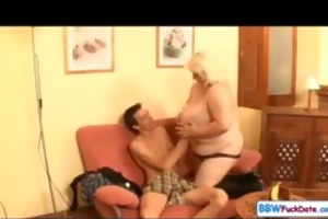 big beautiful woman june kelly copulates a slim
