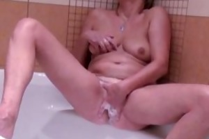 golden-haired aged lady likes playing part6