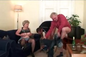granny three-some act aged older porn granny old