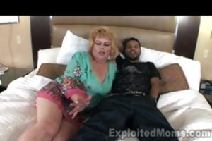50yr old granny 1sttimmer in interracial episode