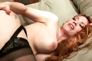 busty golden-haired milf shags with lustful