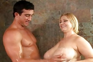 aged fucking breasty strumpets in the shower