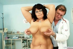 aged daniela has her giant tits checked by gyno