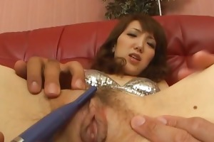 japanese mother i ai in a silver bikini smoked