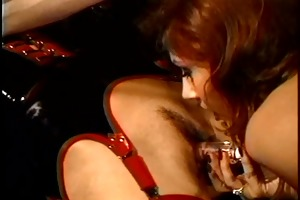 blond unrepining has her muff licked during the