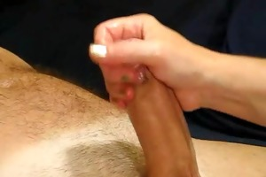 lubed dong stroked until it is spurts!