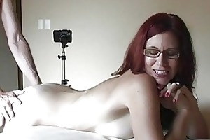 gorgeous redhead milf with large bosom receives