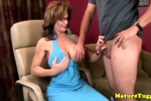 older cook jerking paramour spoiling boys penis