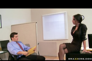 large tit dark brown wench boss anal & double