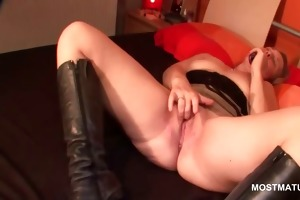 lustful older marital-device fucking her starving