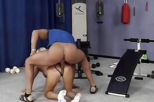 avid old mama receives hard drilled