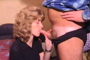 aged non-professional wife homemade oral with cum