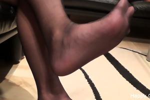 kimberly footplay in stockings