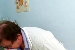older gyno old cum-hole exam clinic gyno doctor