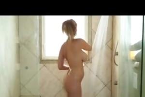 milf star julia ann in shower rub down and fuck