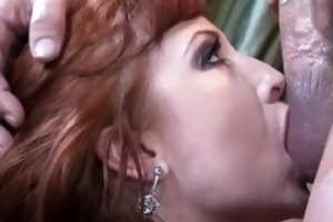 large boobed redhead fucking in haunch high