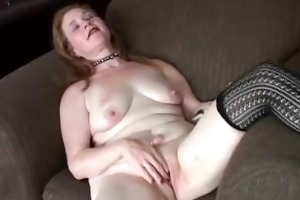 lovely aged playgirl has a chubby soaked cunt