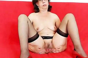 tease and cougar solo with a glamorous aged