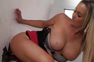 breasty mother i copulates a dark gloryhole cock