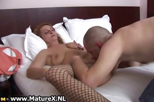 older housewife receives her bawdy cleft licked