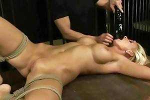 hawt aged golden-haired acquires bondage and anal