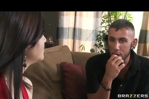 slutty dark brown wife brandi bonks her landlord