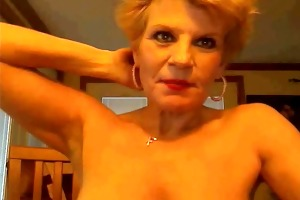 golden-haired granny show your hot body -
