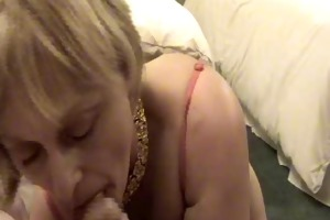 admirable aged wife oral-job