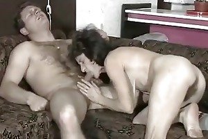 unshaved saggy granny copulates a youthful schlong
