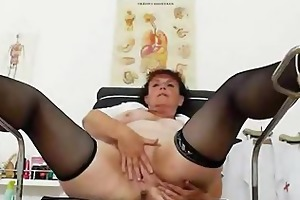 insane head practical nurse playing with herself
