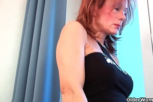 sultry grandma probes her old vagina with a sex