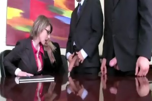 female business executives tell their peons to