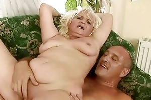 nasty bulky grandma having sex with old lad