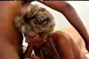 hot granny breasty blond cougar works over bbc