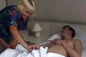 mommy wakes up son