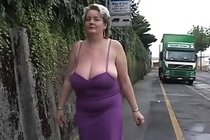 solo 2 aged big beautiful woman with large boo...