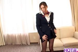 sexy japanese stewardess yuna shiina