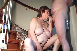 corpulent amateur wife toys and sucks and