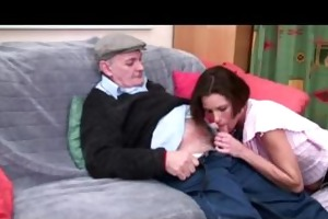 sexually excited voyeur papy copulates nymph in