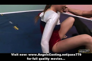 delightsome blonde legal age teenager cheerleader