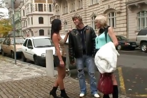 old prostitute is picked up and drilled by stud
