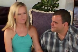 blond wife screwed, spouse smiles!