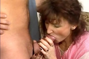 lustful granny gets a fuck and facial !